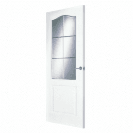 Internal White Primed Saskatchewan Door with Clear Bevelled Glass