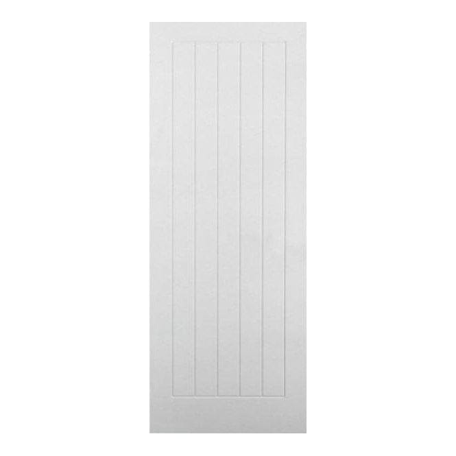 Premdor Textured Internal White Moulded Vertical 5 Panel Door