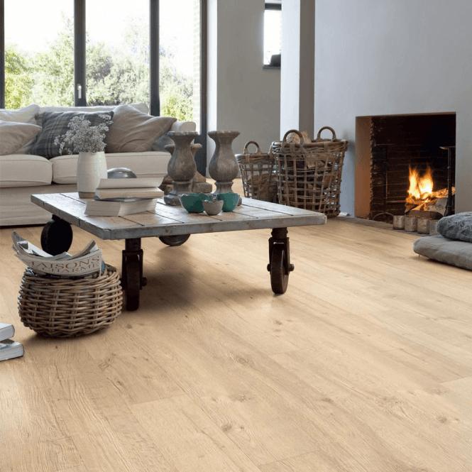 Quickstep Impressive 8mm Sandblasted Natural Oak Laminate Flooring
