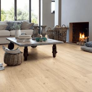 Quickstep Impressive 8mm Sandblasted Natural Oak IM1853 Laminate Flooring