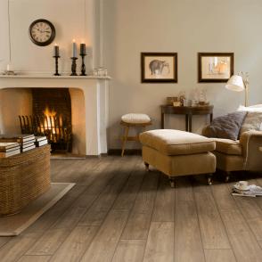 Quickstep Impressive 8mm Scraped Grey Brown Oak IM1850 Laminate Flooring