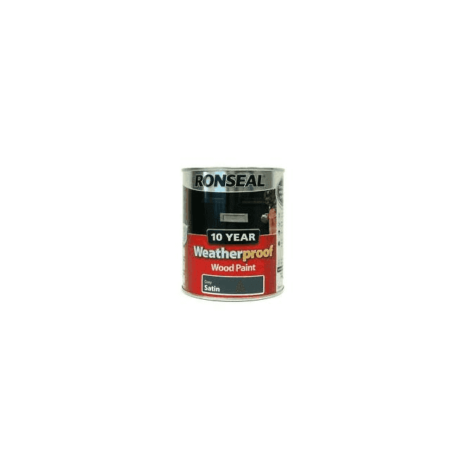 Ronseal 10 Year Weatherproof Exterior Wood Paint Grey Satin 750ml