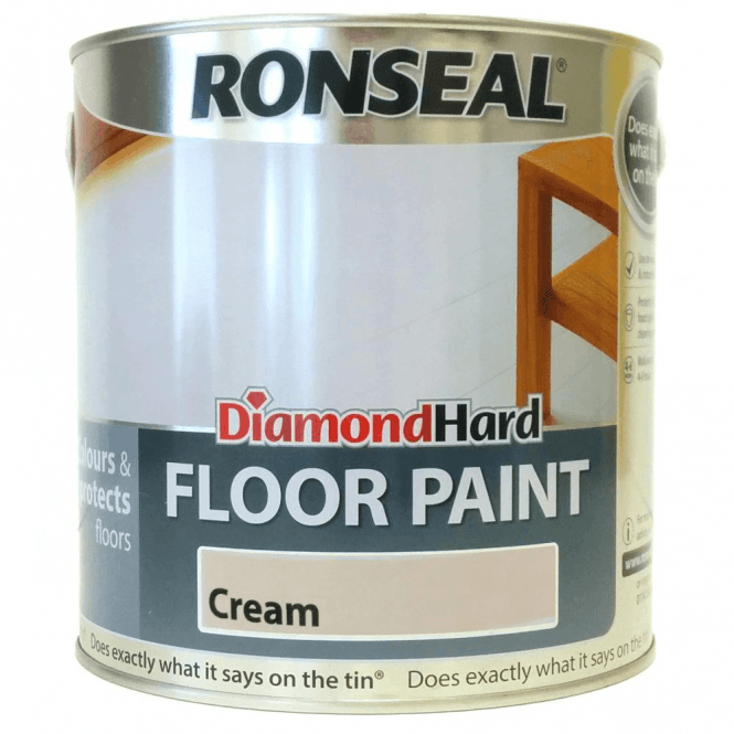 Ronseal Diamond Hard Cream Floor Paint 2.5 Litre
