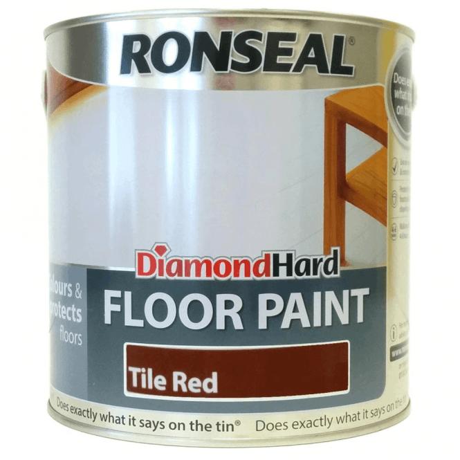 Ronseal Tile Red Diamond Hard 2 5 Litre Floor Paint Gw Leaders