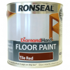 Ronseal Diamond Hard Tile Red Floor Paint 2.5 Litre