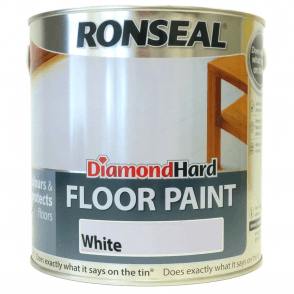 Ronseal Diamond Hard White Floor Paint 2.5 Litre