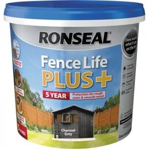 Ronseal Fence Life Plus Charcoal Grey 5 Litre