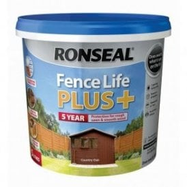 Ronseal Fence Life Plus Country Oak 5 Litre