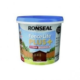 Ronseal Fence Life Plus Dark Oak 5 Litre
