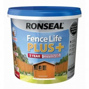 Ronseal Fence Life Plus Harvest Gold 5 Litre