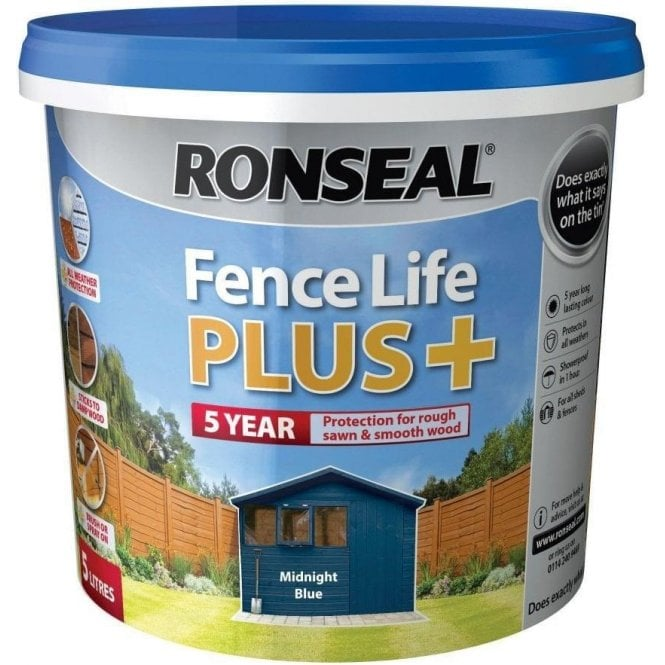 Ronseal Fence Life Plus Midnight Blue 5 Litre
