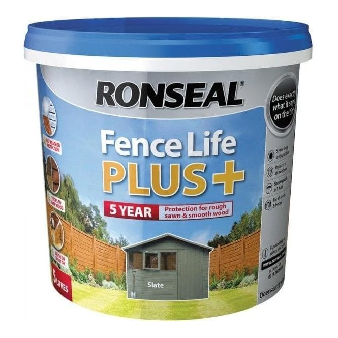 Ronseal Fence Life Plus Slate 5 Litre