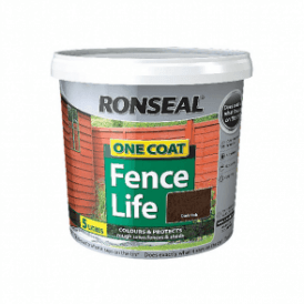 Ronseal One Coat Fence Life Dark Oak 5 Litre
