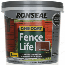 Ronseal One Coat Fence Life Medium Oak 5 Litre