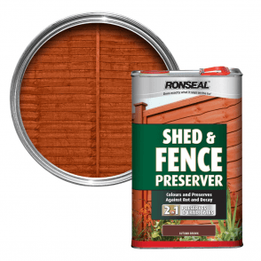Ronseal Shed and Fence Preserver Autumn Brown 5 Litre