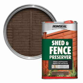 Ronseal Shed and Fence Preserver Light Brown 5 Litre