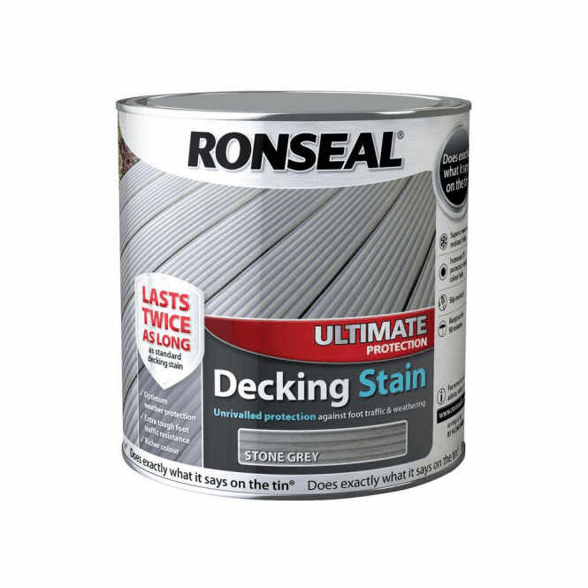 Ronseal Ultimate Protection Decking Stain Stone Grey 2.5 Litre