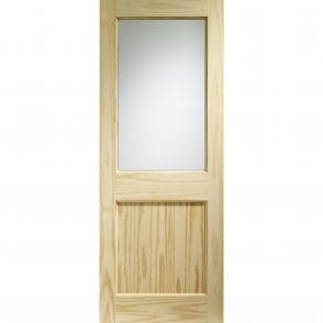 External Clear Pine Un-finished 2XG Door with Single Glazed Clear Glass