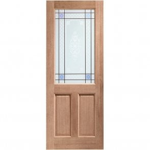 External Hardwood Un-finished 2XG Door with Carroll Glass (MORTICE & TENON)