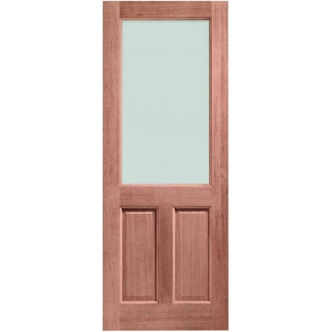 XL Joinery External Hardwood Un-finished 2XG Door with Clear Glass (Dowelled)