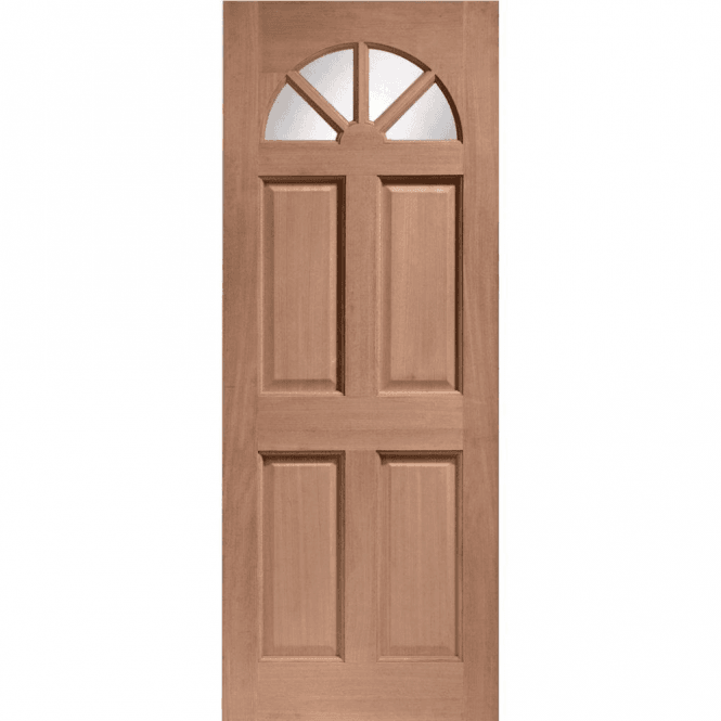 XL Joinery External Hardwood Un-finished Carolina Door with Clear Glass (DOWELLED)