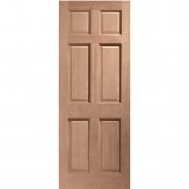 External Hardwood Un-finished Colonial 6 Panel Door (MORTICE & TENON)