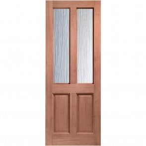 External Hardwood Un-finished Malton Door with Obscure Glass (Dowelled)