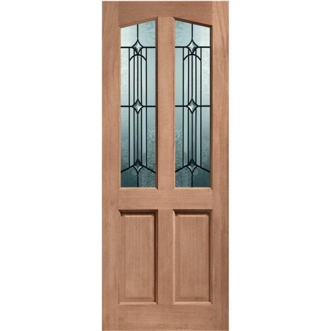 XL Joinery External Hardwood Un-finished Richmond Door with Donne Glass (MORTICE & TENON)