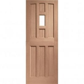 External Hardwood Un-finished Stable 1 Light Door with Clear Glass