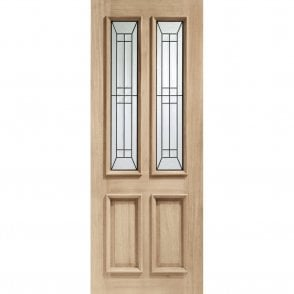 External Oak Malton Diamond Triple Glazed Door