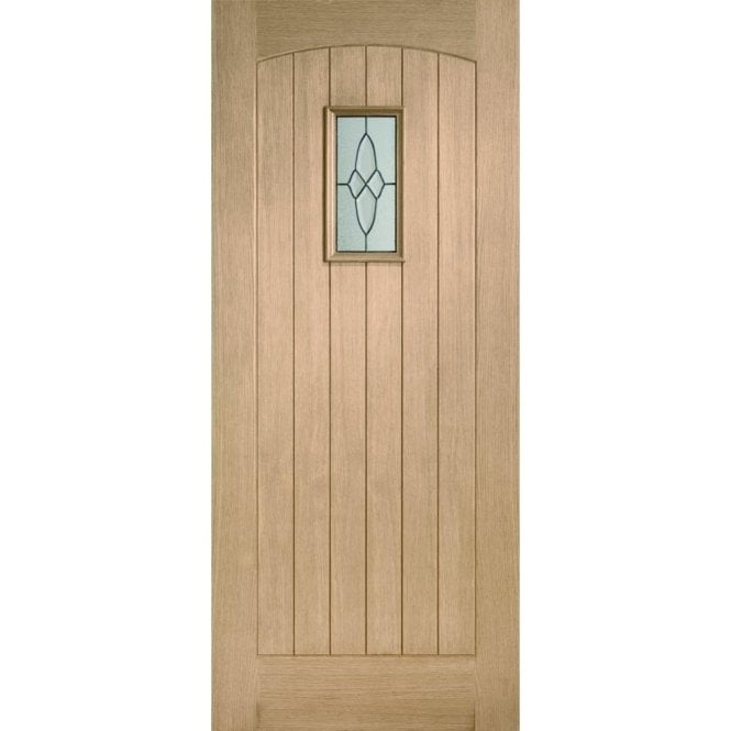XL Joinery External Oak Triple Glazed Cottage Door With Black Caming