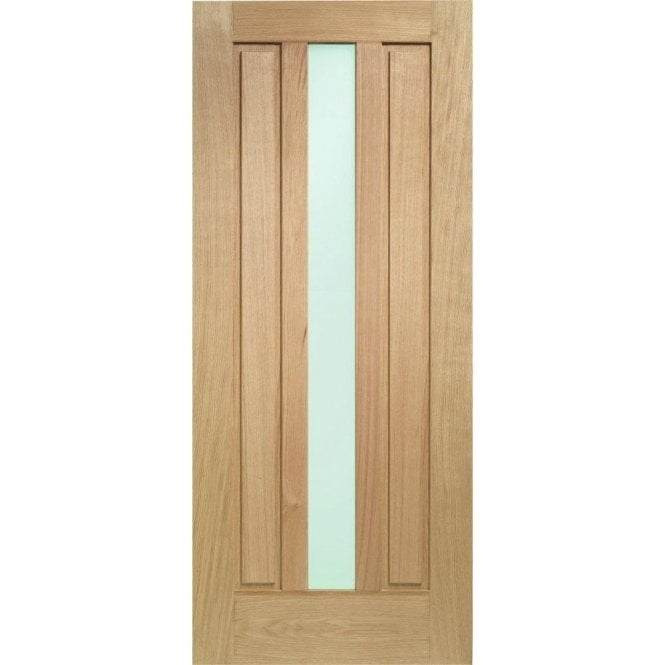XL Joinery External Oak Un-finished Padova Door with Obscure Glass
