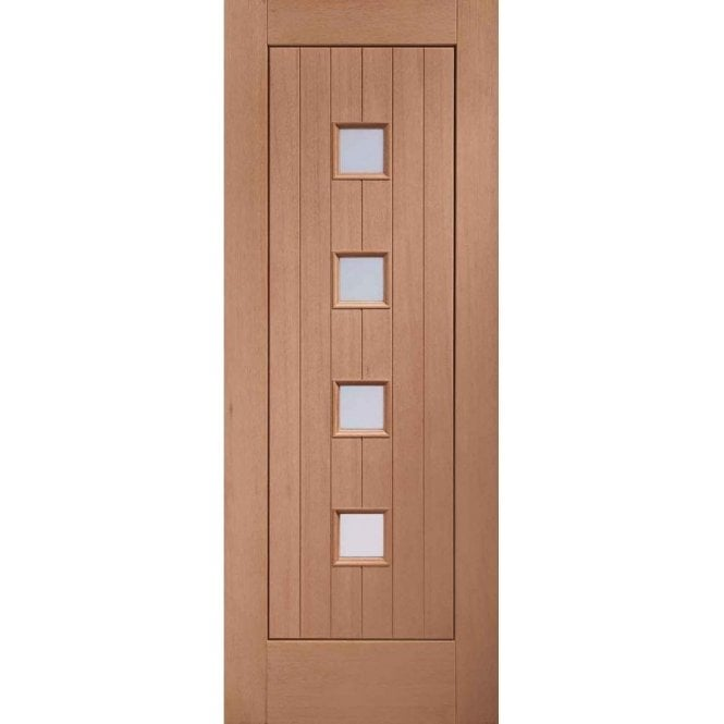 XL Joinery External Un-Finished Siena Hardwood Door with Obscure Glass