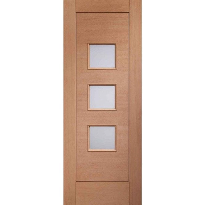 XL Joinery External Un-Finished Turin Hardwood Door with Obscure Glass