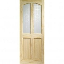 Internal Clear Pine Rio with Crystal Rose Glass Door