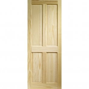 Internal Clear Pine Victorian 4 Panel Door