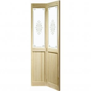 Internal Clear Pine Victorian Bi-Fold Door with Campion Glass