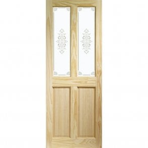 Internal Clear Pine Victorian Door with Campion Glass