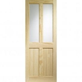 Internal Clear Pine Victorian Door with Clear Glass