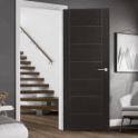 XL Joinery Internal Dark Grey Pre-Finished Palermo Fire Door