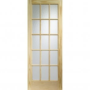 Internal Knotty Pine SA77 Door with Flemished Glass