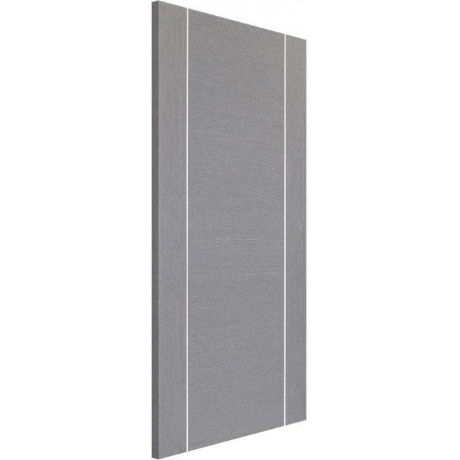 XL Joinery Internal Light Grey Pre-Finished Forli Fire Door