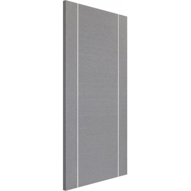 XL Joinery Internal Light Grey Pre-Finished Forli Fire Door