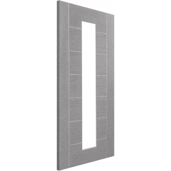 XL Joinery Internal Light Grey Pre-Finished Palermo Door with Clear Glass
