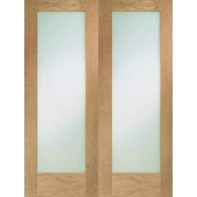XL Joinery Internal Oak Pattern 10 Pair Door with Clear Glass
