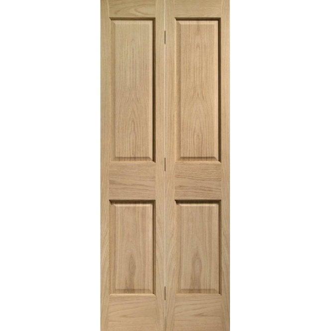 XL Joinery Internal Oak Un-finished Victorian 4 Panel Bi-Fold Door