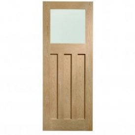 Internal Pre-Finished Oak DX Door with Obscure Glass