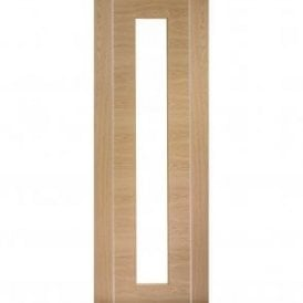 Internal Pre-Finished Oak Forli Door with Clear Glass