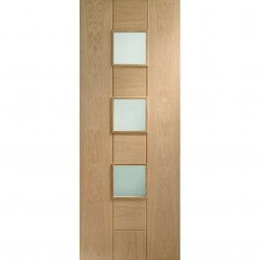 Internal Pre-Finished Oak Messina Door with Clear Glass