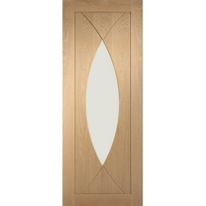 XL Joinery Internal Pre-Finished Oak Pesaro Door with Clear Glass